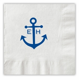 Anchor Monogram Napkins