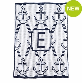 anchors and ropes stroller blanket