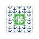 anchors navy square paper coaster<br>set of 50