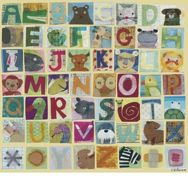 animal alphabet wall art by maria carluccio