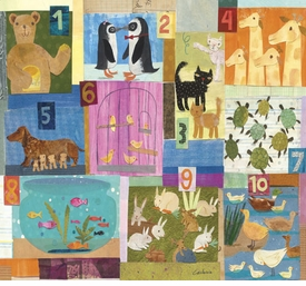 animal counting wall art by maria carluccio