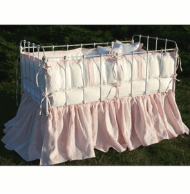anjou cotton crib bedding (custom colors available)