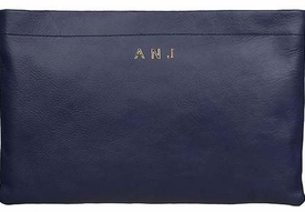 annie leather clutch