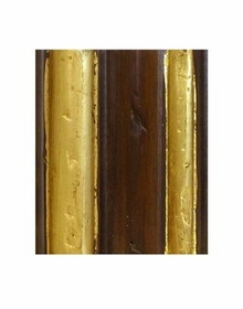 antique french walnut with gold gilding finish