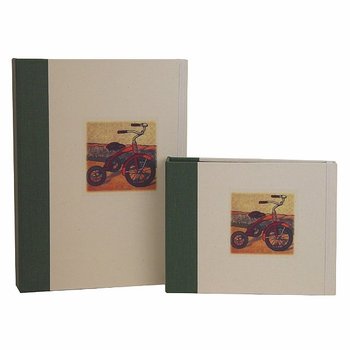 antique tricyle photo album