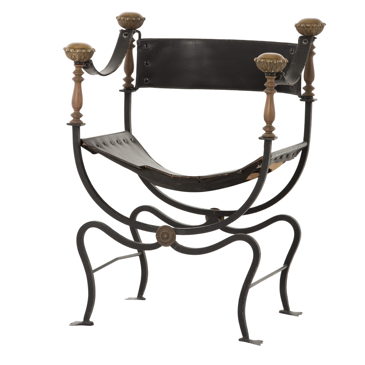 - Antique Wrought Iron Chair