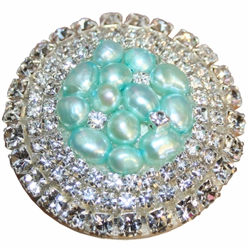 aqua glamour drawer knob