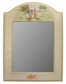 arched mirror (enchanted forest-bunnies)