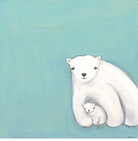 arctic love wall art by marisa haedike
