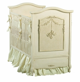 art for kids cherubini crib (versailles tea stain)