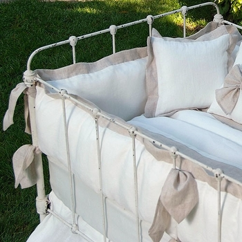 avignon crib bedding (custom colors available)