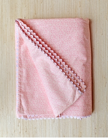 baby blanket pink floral dove