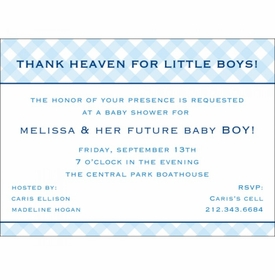 baby blue gingham baby showers