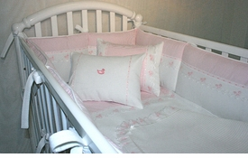 baby bow crib bedding collection