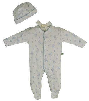 baby boy cotton footie romper set