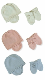 baby cashmere mittens and hat set