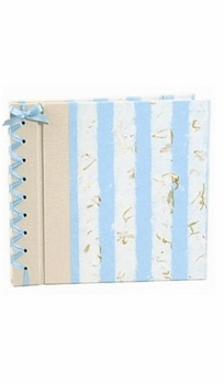 baby's first book by rag & bone bindery - blue stripe