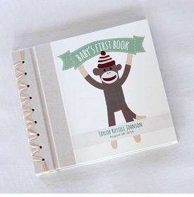 baby's first book - monkey business by rag & bone bindery