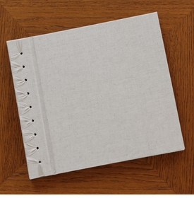 baby's first book - natural linen by rag & bone bindery