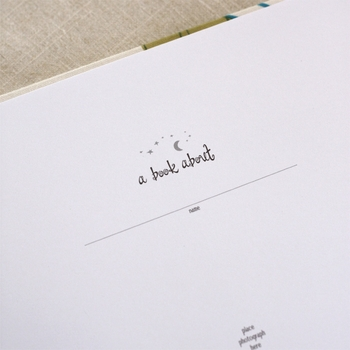 baby's first book - park avenue by rag and bone bindery