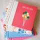 baby's first book - pink bunting by rag & bone bindery