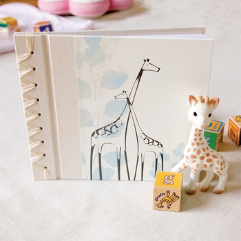 baby's first book - pink giraffe by rag & bone bindery