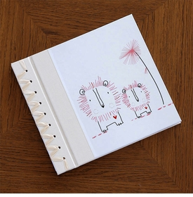baby's first book - pink lion by rag & bone bindery