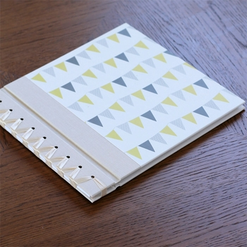 baby's first book - yellow bunting by rag & bone bindery