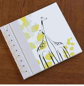 baby's first book - yellow giraffe by rag & bone bindery