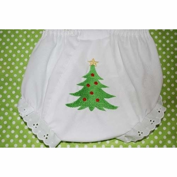 baby's first christmas bloomers