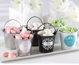 baby shower favor colorful favor pails set