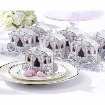 "baby shower favor ""enchanted carriage"" favor boxes set"
