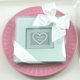 baby shower favor glass photo coasters