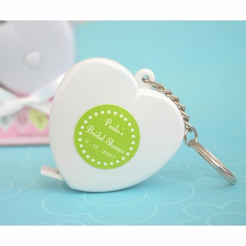 baby shower favor-heart tape measure