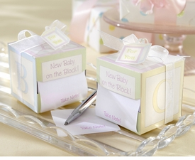 baby shower favor- new baby note pad