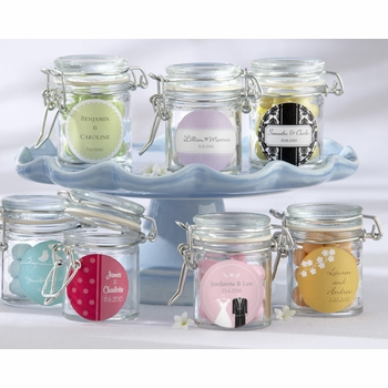 baby shower favor-personalized glass jars set (12)