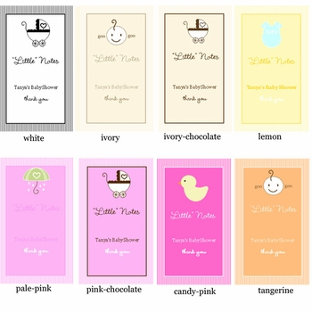 baby shower favor personalized notebook