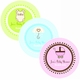baby shower favor round labels
