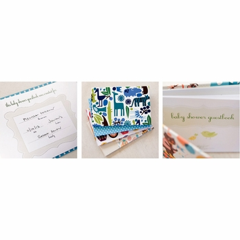 baby shower guest book by rag & bone bindery
