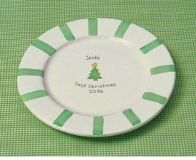 babys first christmas plate
