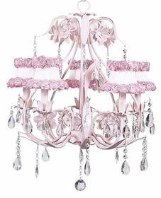 ballroom chandelier with ring of roses shades