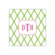 bamboo green & raspberry square paper coaster<br>set of 50