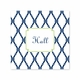 bamboo navy/green square paper coaster <br> set of 50