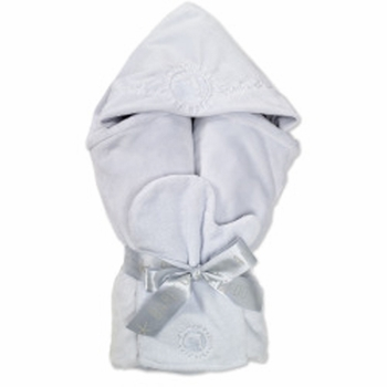 barefoot dreams hooded blue dolphin towel