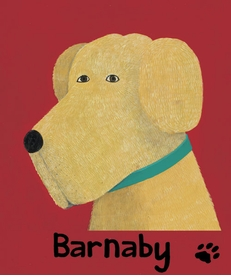 barnaby - yellow - wall art by max grover