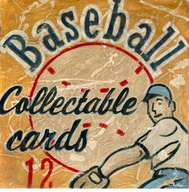 baseball cards wall art
