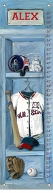 baseball locker personalized growth chart