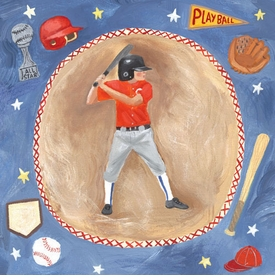 baseball star - boy wall art
