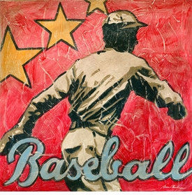 baseball star wall art