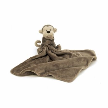 bashful monkey soother by jelly cat